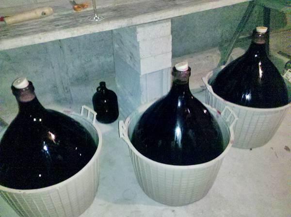 Jars of Homemade Wine